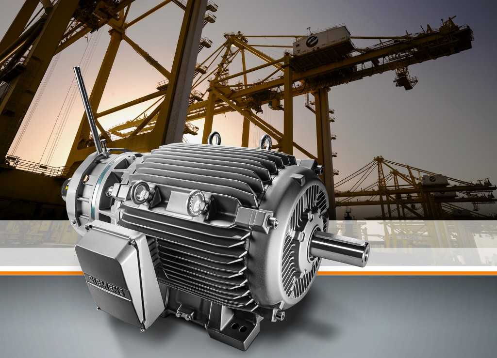 Highly efficient Simotics crane motors for seaports
