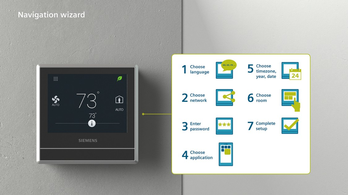 Whether installing the new RDS120-B or original RDS120 Smart Thermostat, getting up an running is fast and simple with the Navigation Wizard.