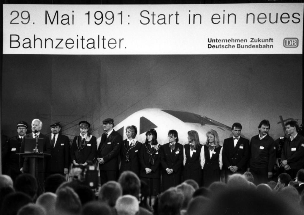 Presentation of the ICE 1, Kassel-Wilhelmshöhe, May 29, 1991