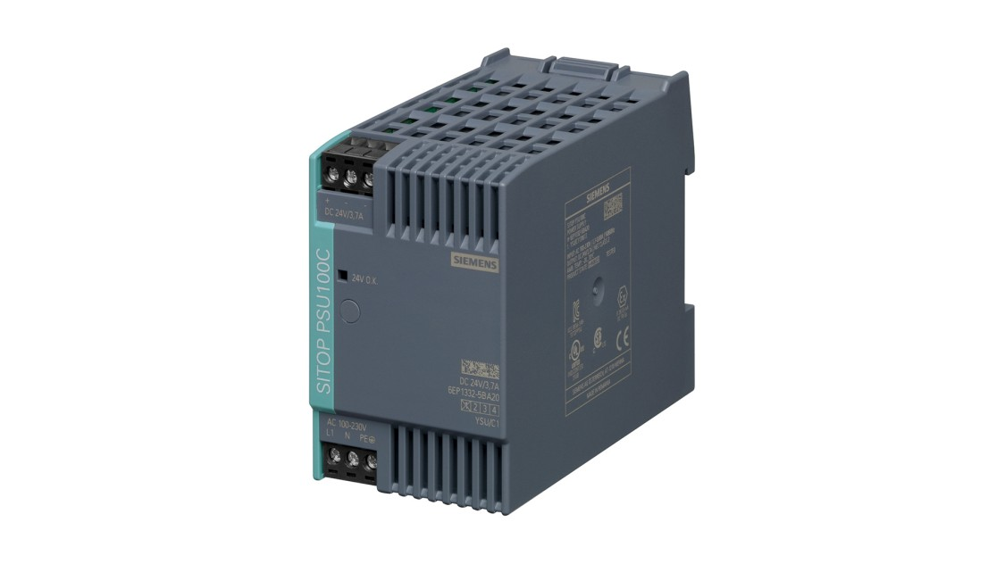 Product image SITOP PSU100C NEC Class 2, 1-phase, DC 24 V/3.7 A