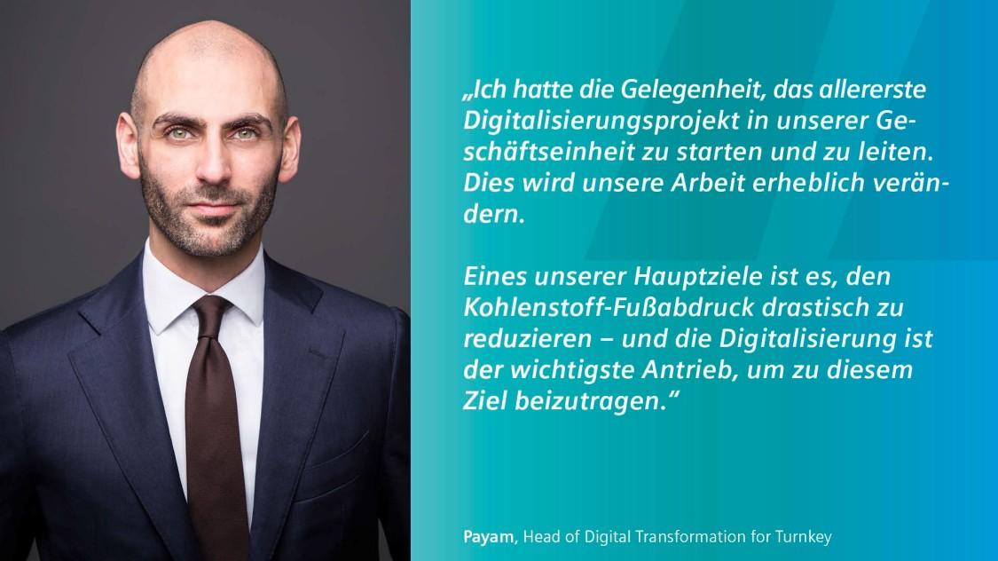 Bild von Payam Head of Digital Transformation for Turnkey