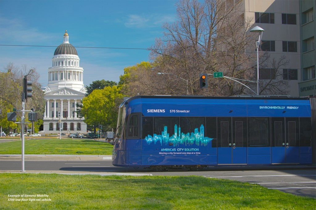 Sacramento orders 20 light rail vehicles from Siemens Mobility