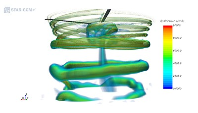 Researchers with the Computational Fluid Dynamics Laboratory at the Georgia Institute of Technology investigate, amongst other things, the flow field in rotors and rely on the Star-CCM + software from Siemens PLM Software for their visualizations.