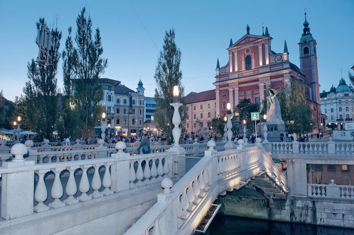 Bild aus der Hauptstadt von Slowenien  - Ljubljana