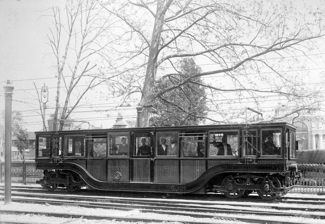 Motorcar from the Budapest subway line, 1896