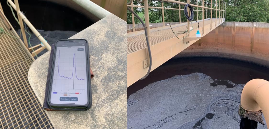 slamnivåmätning hos Nordvästra Skånes Vatten och Avlopp med nya radarnivågivaren Sitrans LR110