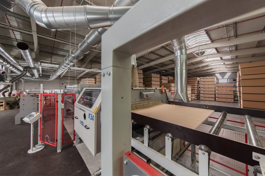 Profilfräse für Holzleisten bei der Heberndorfer Leistenfabrik in Wurzbach