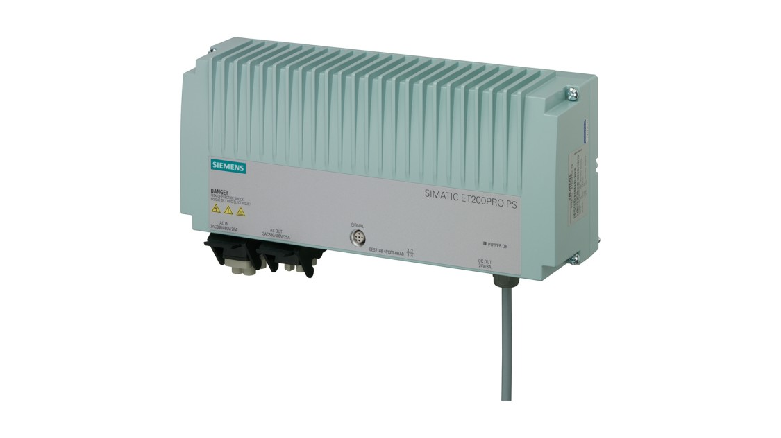 SIMATIC ET 200pro向けに設計された、PS、24 V/8 AのSITOPの製品画像