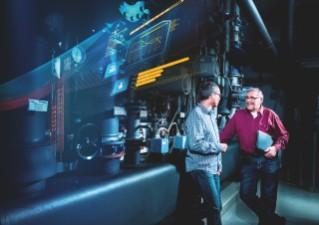 Siemens-Mitarbeitende im Gespräch
