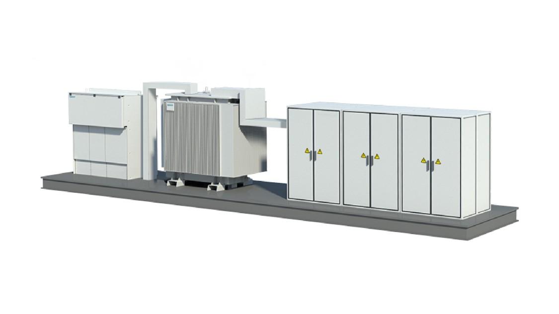 8DHJ 36 medium-voltage metal-enclosed switchgear on skid