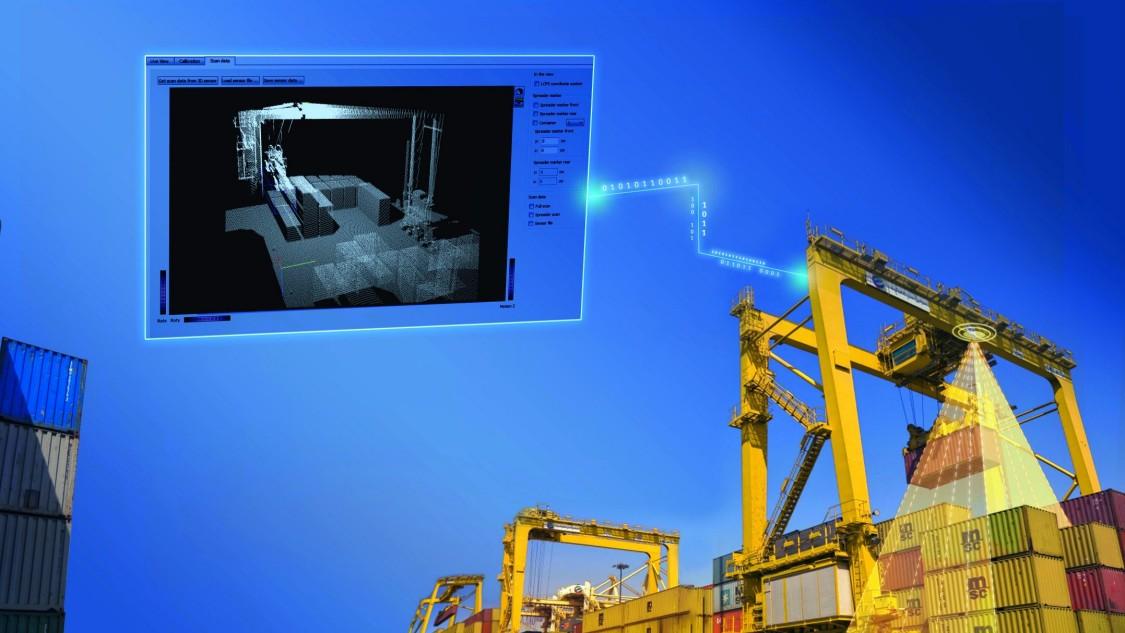 Key visual Harbor Cranes Load collision prevention system
