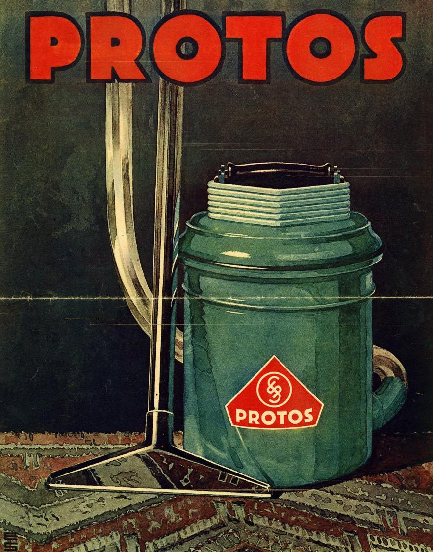 Reklame für einen Protosstaubsauger, 1928