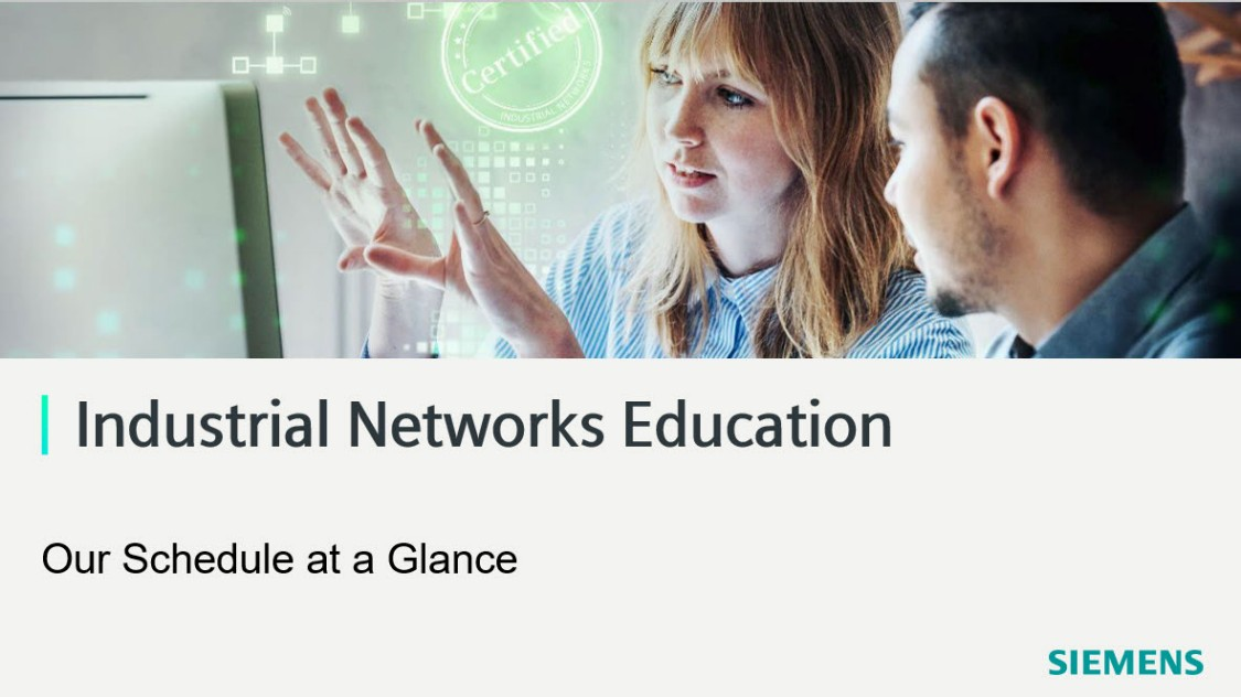 industrial networks education class schedule