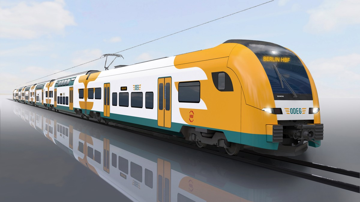 The image shows the regional train Desiro HC for the Elbe-Spree network.