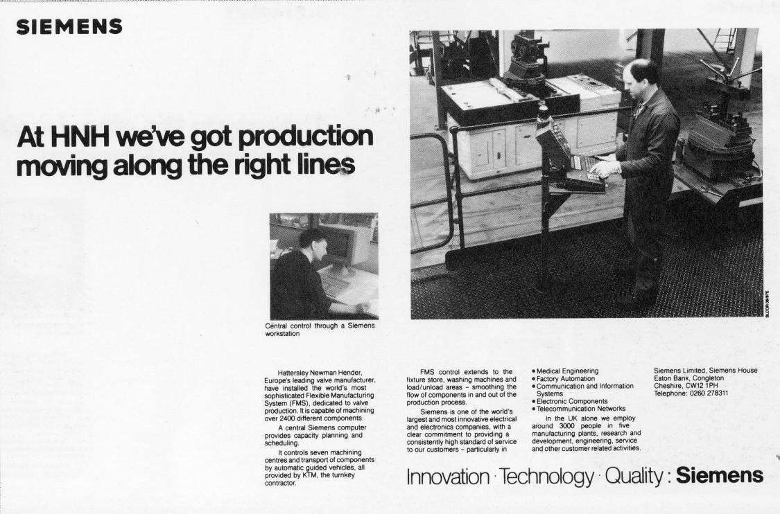 Siemens company advertisement, UK, 1987