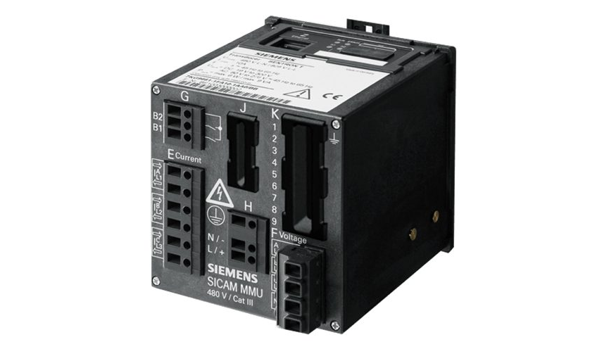 Power meter device SICAM MMU rear view