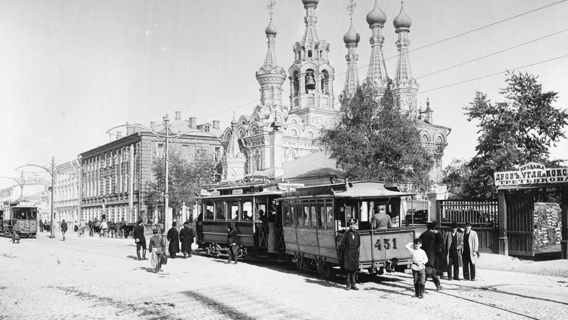 Russland, Straßenbahn Moskau 1899