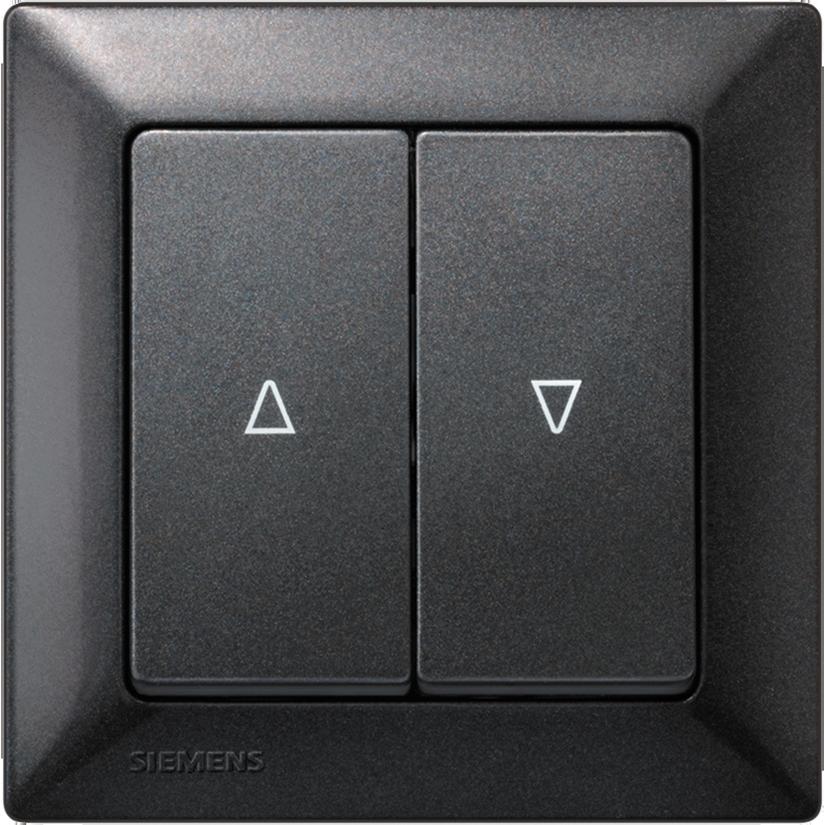 Двухклавишные выключатели GAMMA instabus с символами – черный металлик