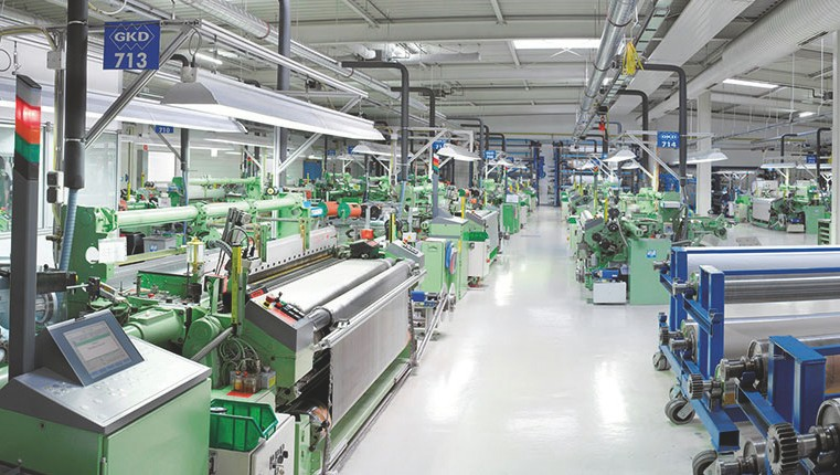Safety technology weaving plant GKD