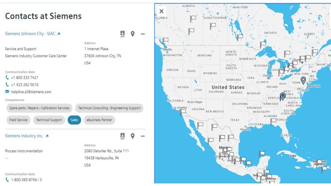 USA | Sales locator