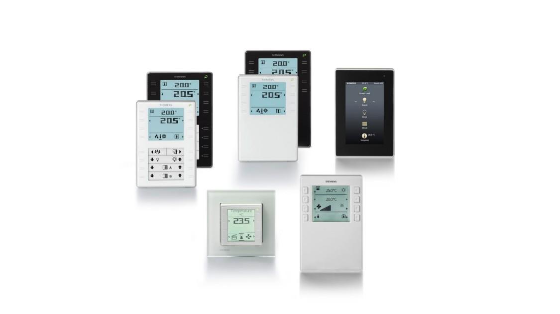 Desigo room operator units QMX2, QMX3, QMX7, AQR25