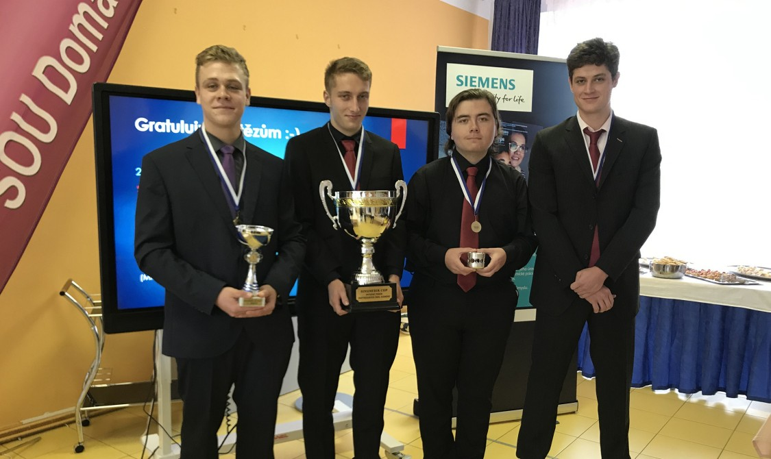 Vítězové 6. ročníku Siemens Sinumerik Cup 2019