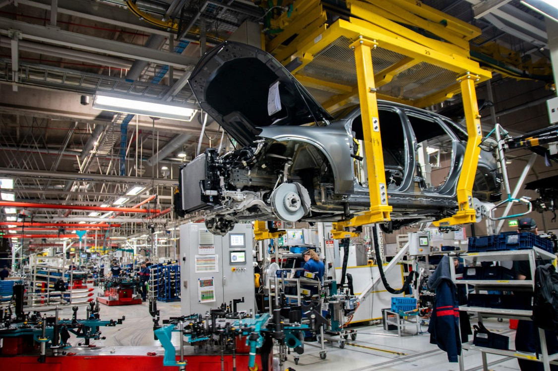 Produktionsbereich eines Automobilherstellers