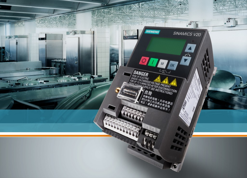 Siemens presents the smallest ever Sinamics frequency converter