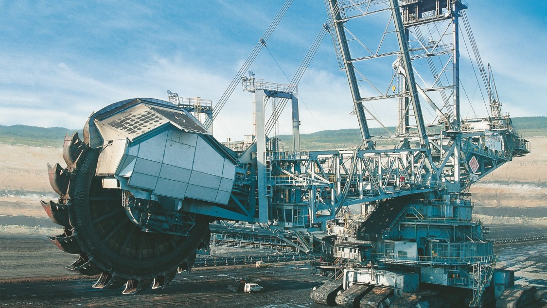 Image of a bucket-wheel excavator
