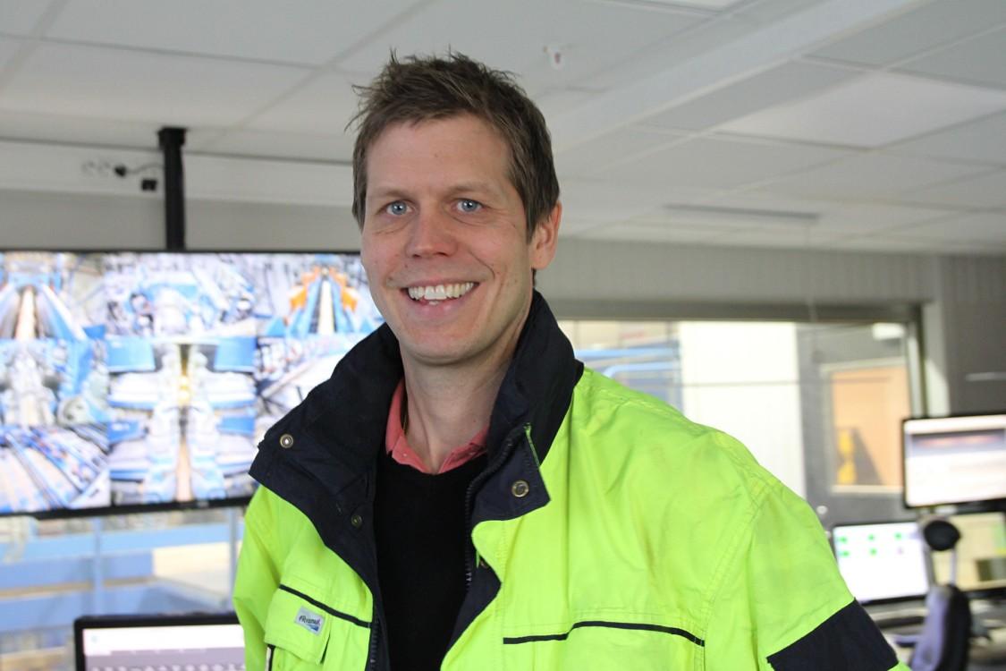 Fredrik Samuelsson, sågverkschef på Sävar Såg.