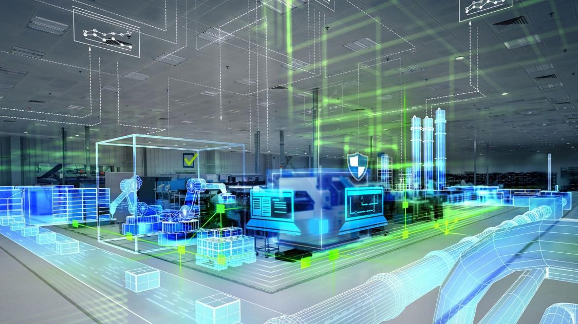 Pruůmyslová automatizace, digitalizace a komunikace ve výrobě.