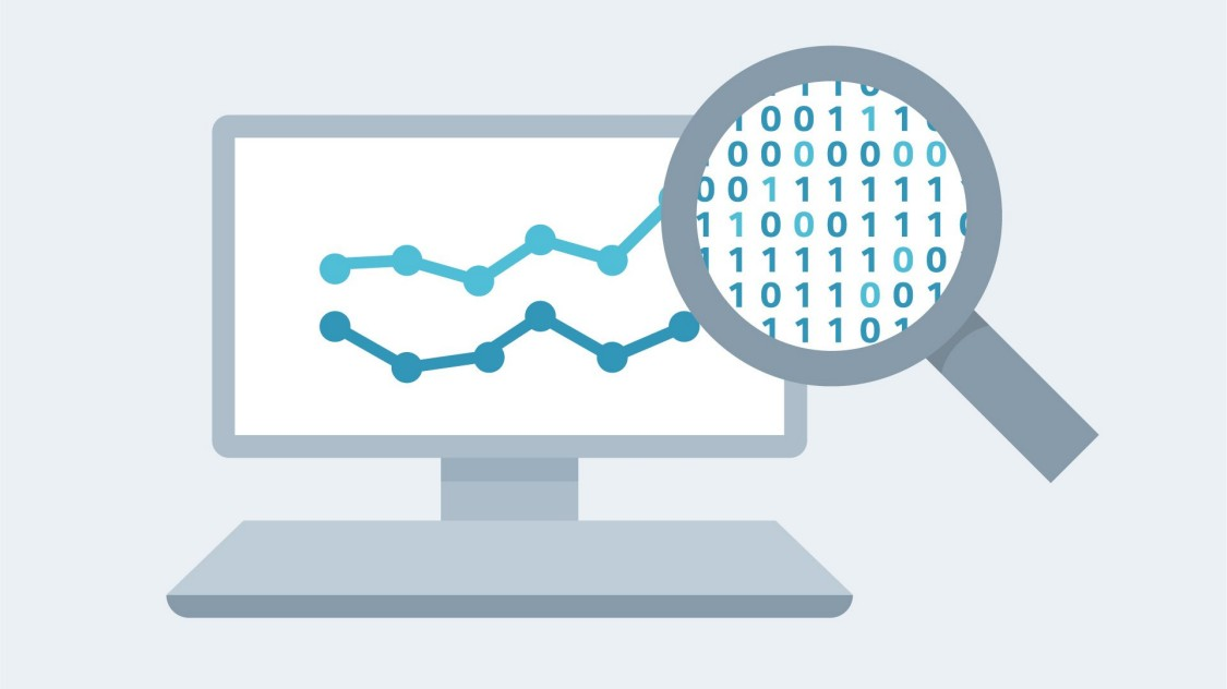 Display with data analytics for operational improvement