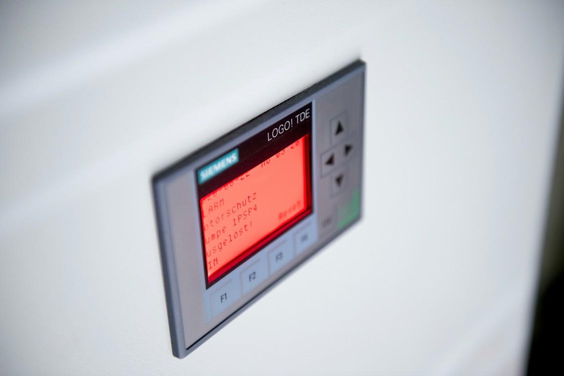 LOGO! TDE control panel on the cabinet door