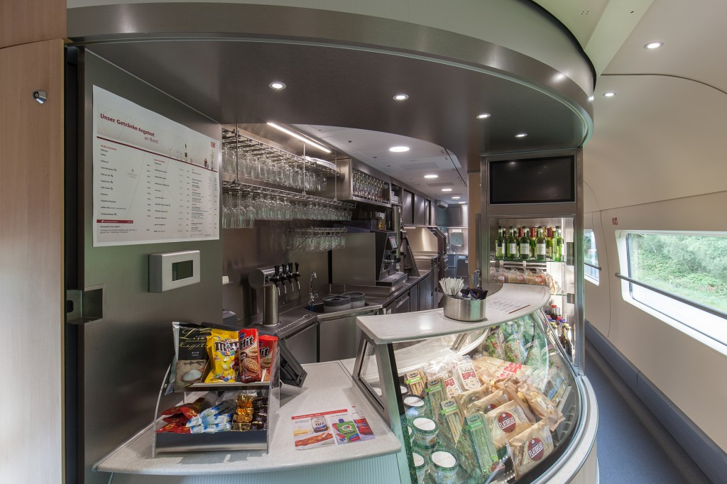 A larger and more spacious galley with bistro