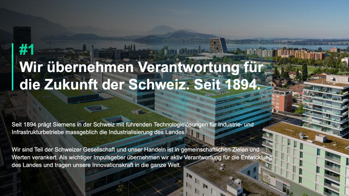 Wir übernehmen Verantwortung für die Zukunft der Schweiz