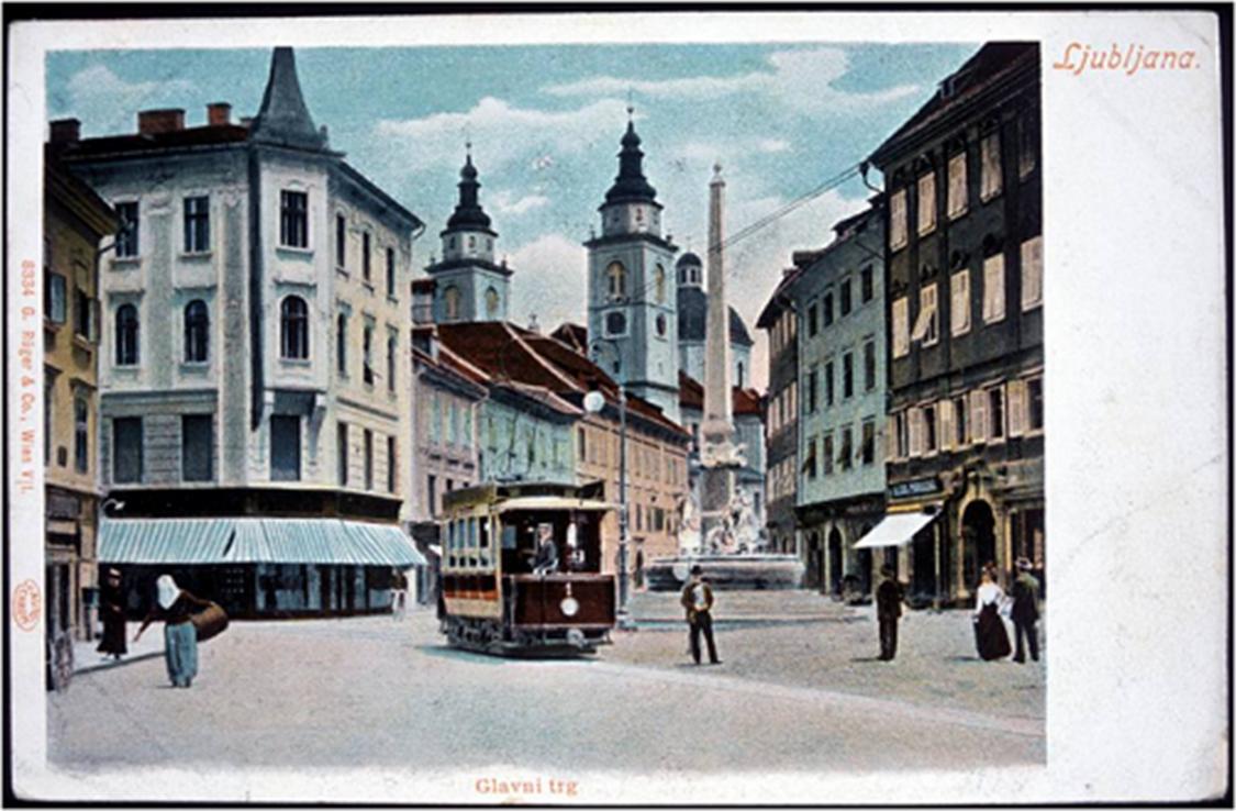Tramvaj v Ljubljani, 1901, vir: Mestni muzej Ljubljana