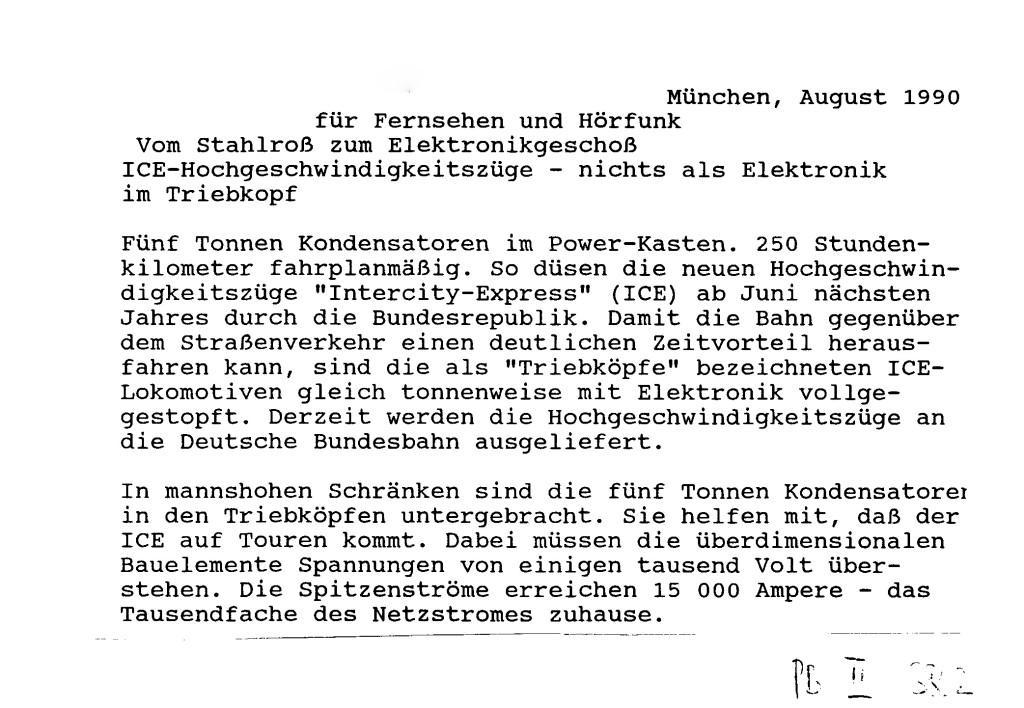 Siemens Press Release August 1990