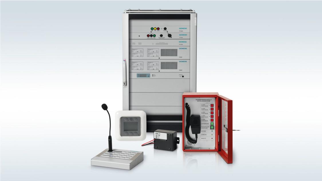 Genel anons ve sesli alarm sistemi Cerberus PACE