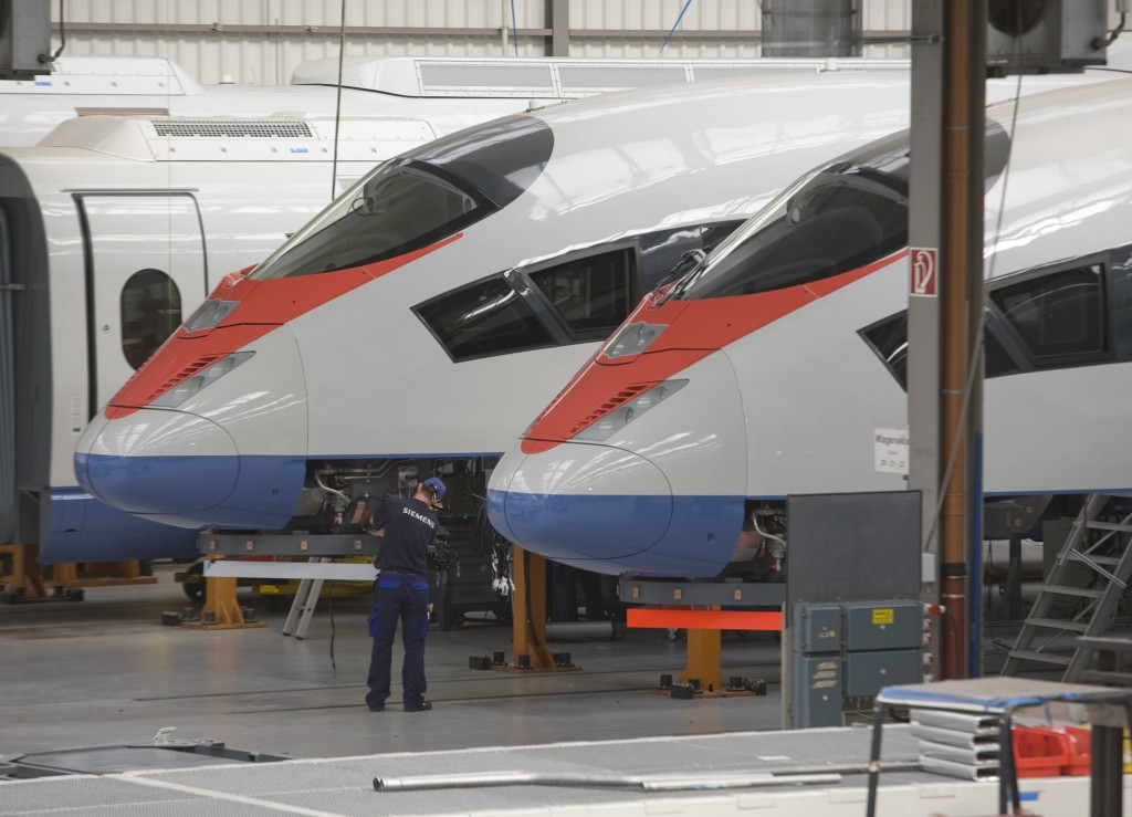 The Velaro RUS at the Siemens plant in Krefeld-Uerdingen