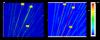 Die Grafik zeigt einen Vergleich zwischen gemessenem (links) und simuliertem (rechts) Körperschall eines Traktionsmotors