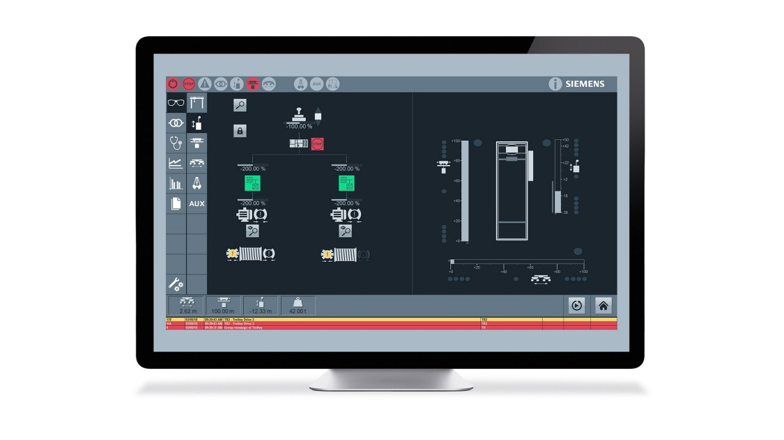 Screenshot of SIMOCRANE CMS