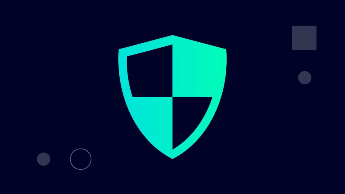 Symbol für mehr Sicherheit mit der SINEC Softwarefamilie: das Icon eines Schutzschildes in einem grünen digitalen Kreis.