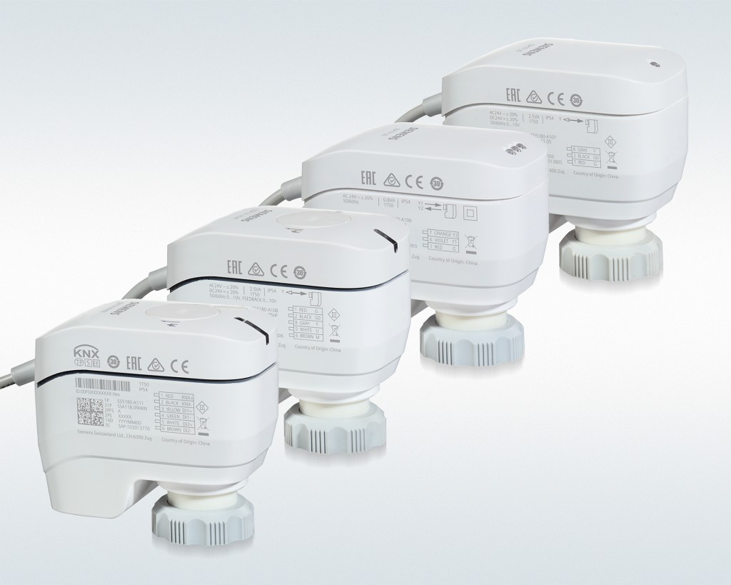 Acvatix room actuator SSA Series KNX