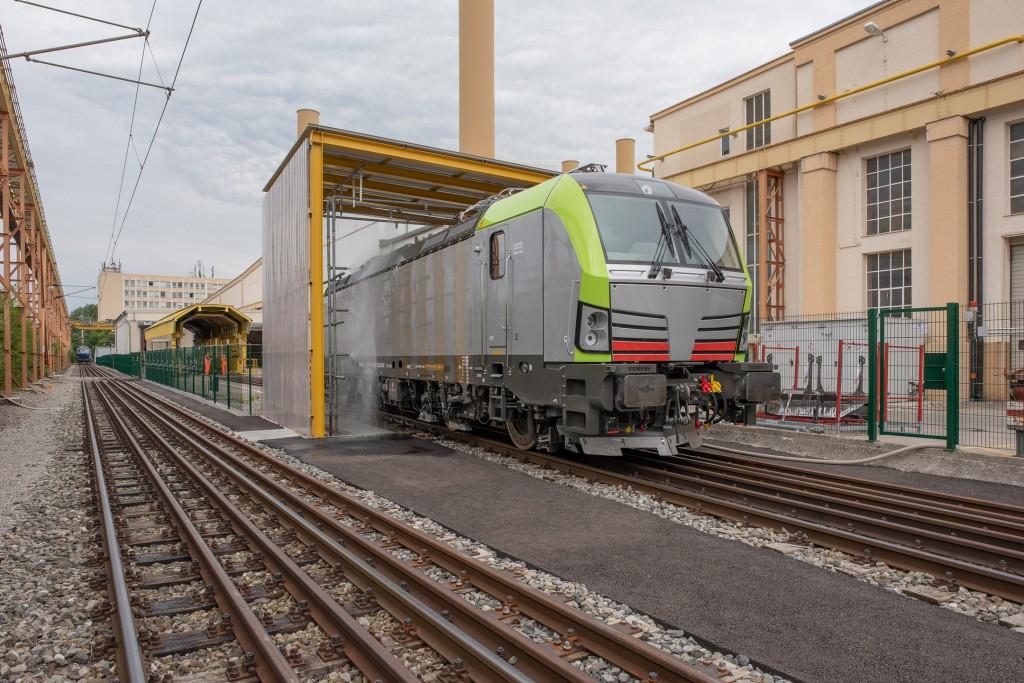Das Lokomotiven-Werk von Siemens Mobility in München Allach