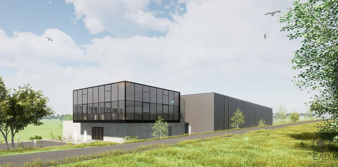 Représentation de l'usine ASF 4.0 (Advanced Shoe Factory 4.0) à Ardoix en Ardèche