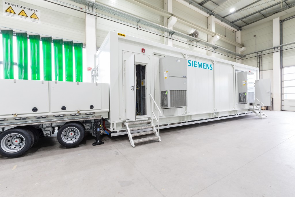 Siemens developed the world's first mobile STATCOM