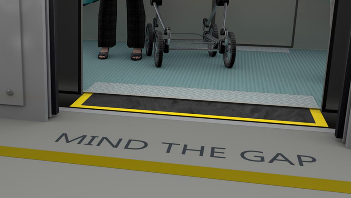 Automation of a gap filler e.g. at a subway train