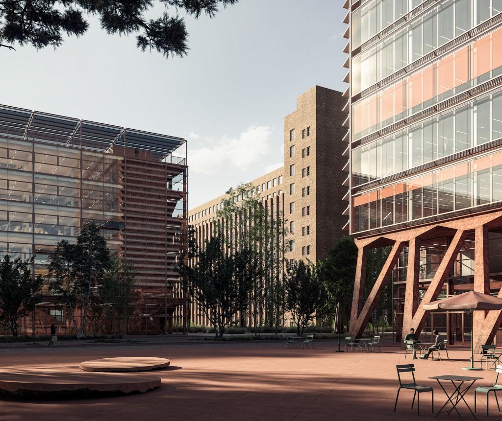 Siemensstadt Hochbauwettbewerb Entwurf Robert Neun - Außenansicht