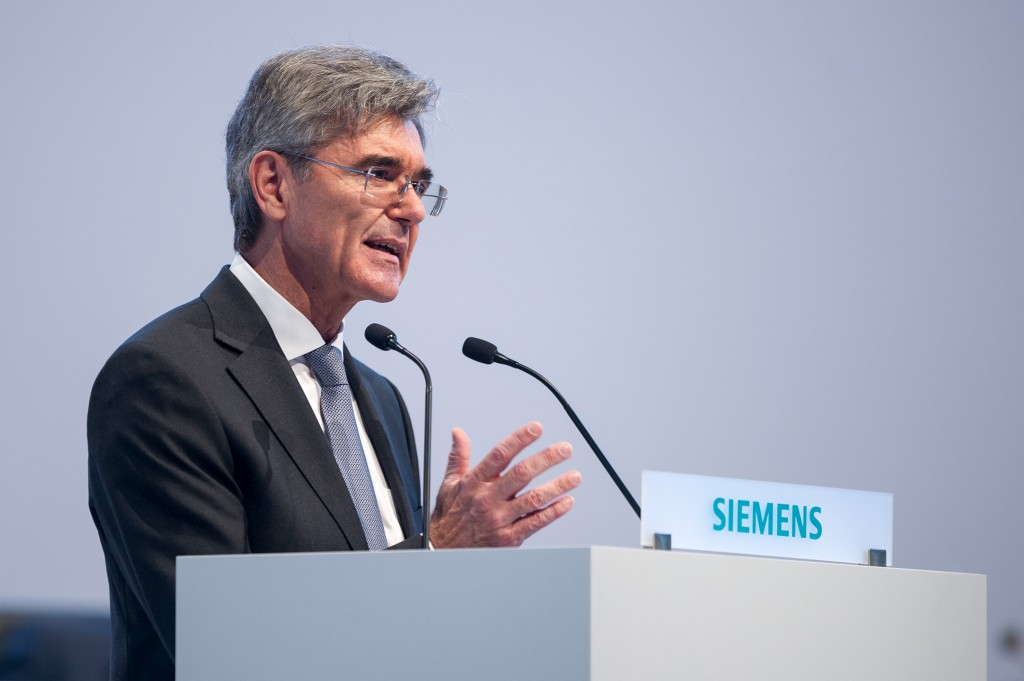 Annual Shareholders' Meeting of Siemens AG at the Olympiahalle in Munich, GermanyAnnual Shareholders' Meeting of Siemens AG at the Olympiahalle in Munich, Germany