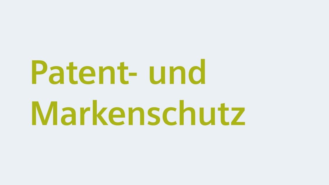 Patent- und Markenschutz